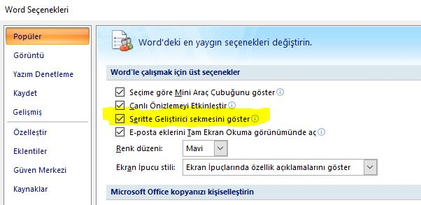Word de Boş Sayfa Silme